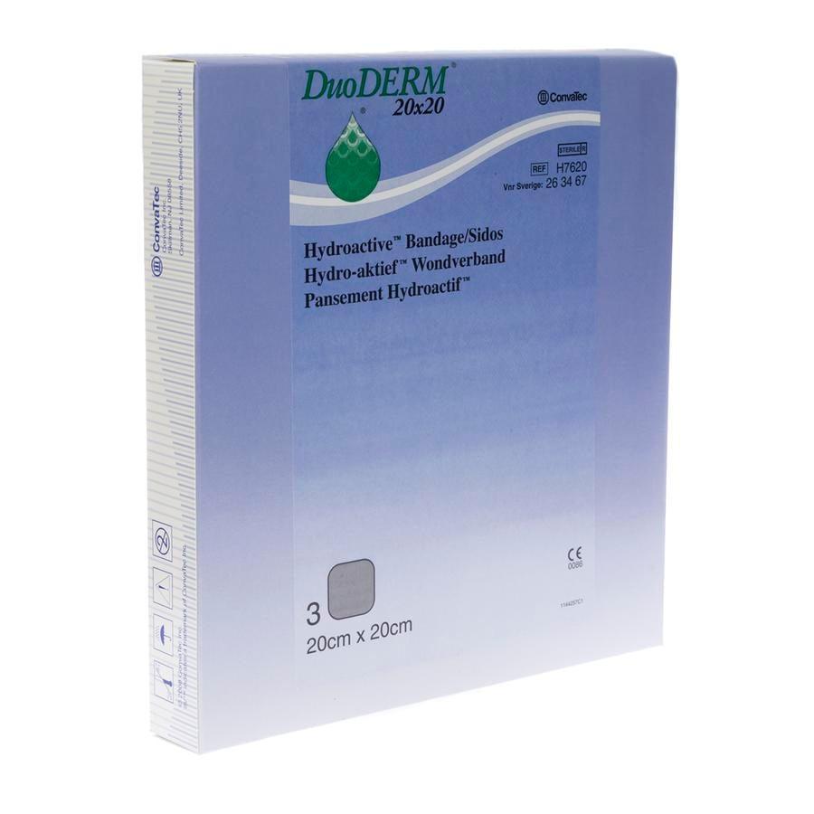 Image of Duoderm Hydroactief Verband 20x20cm 3 Stuks