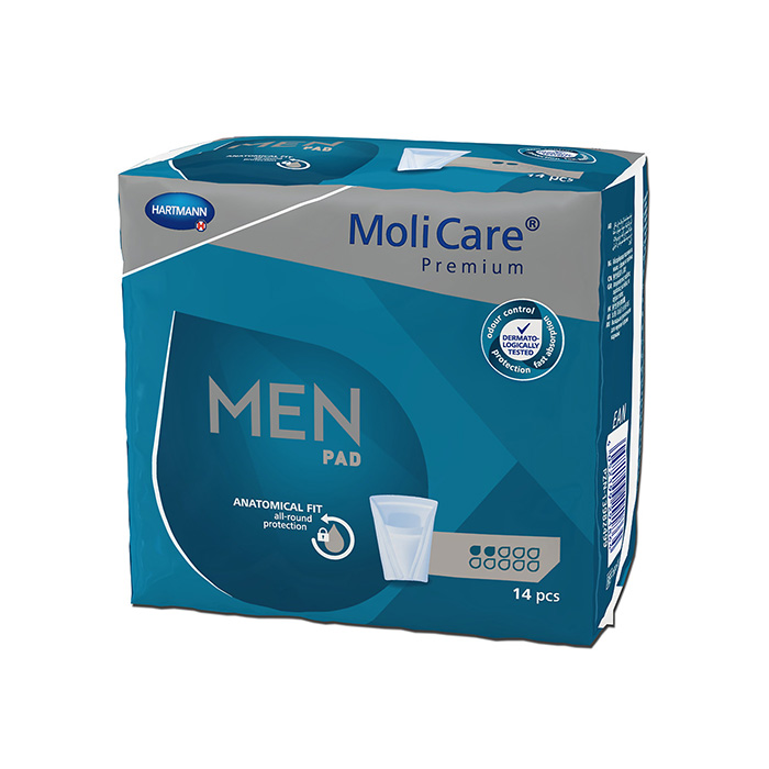 Image of Molicare Premium Men Pad 2 Druppels 14 Stuks