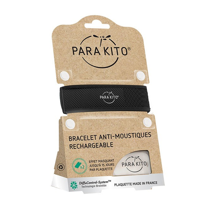 Image of Para'kito Anti-Muggen Armband Zwart + 2 Navullingen