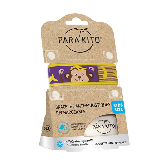Image of Para'kito Kids/ Teens Anti-Muggen Armband Monkey + 2 Navullingen
