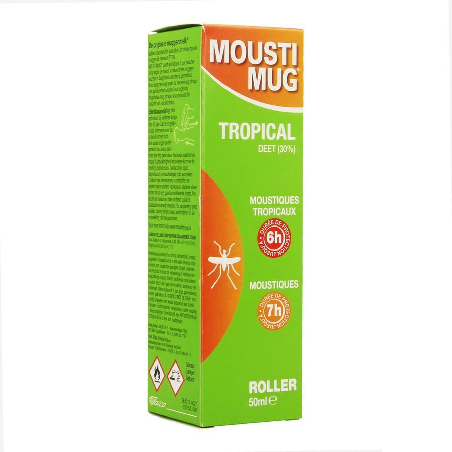 Image of Moustimug Tropical 30% DEET Roller 50ml