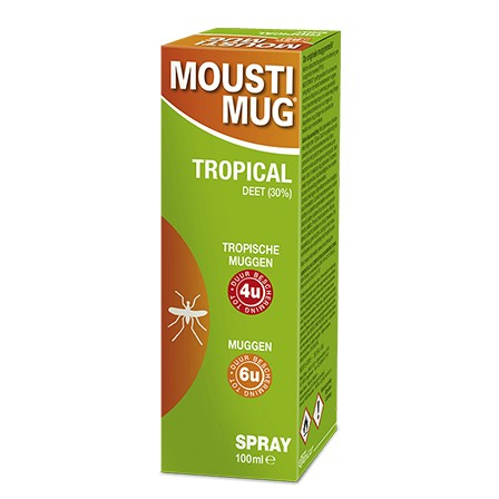 Image of Moustimug Tropical 30% DEET Spray 100ml