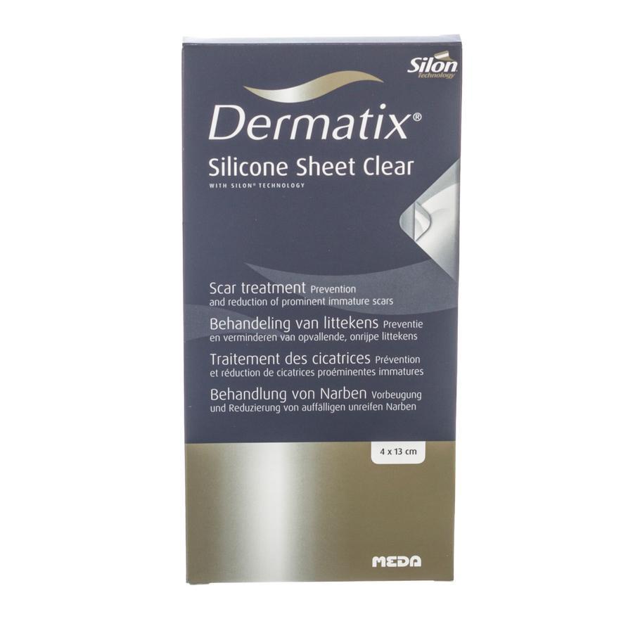 Image of Dermatix Silicone Sheet Clear 4cmx13cm 1 Stuk