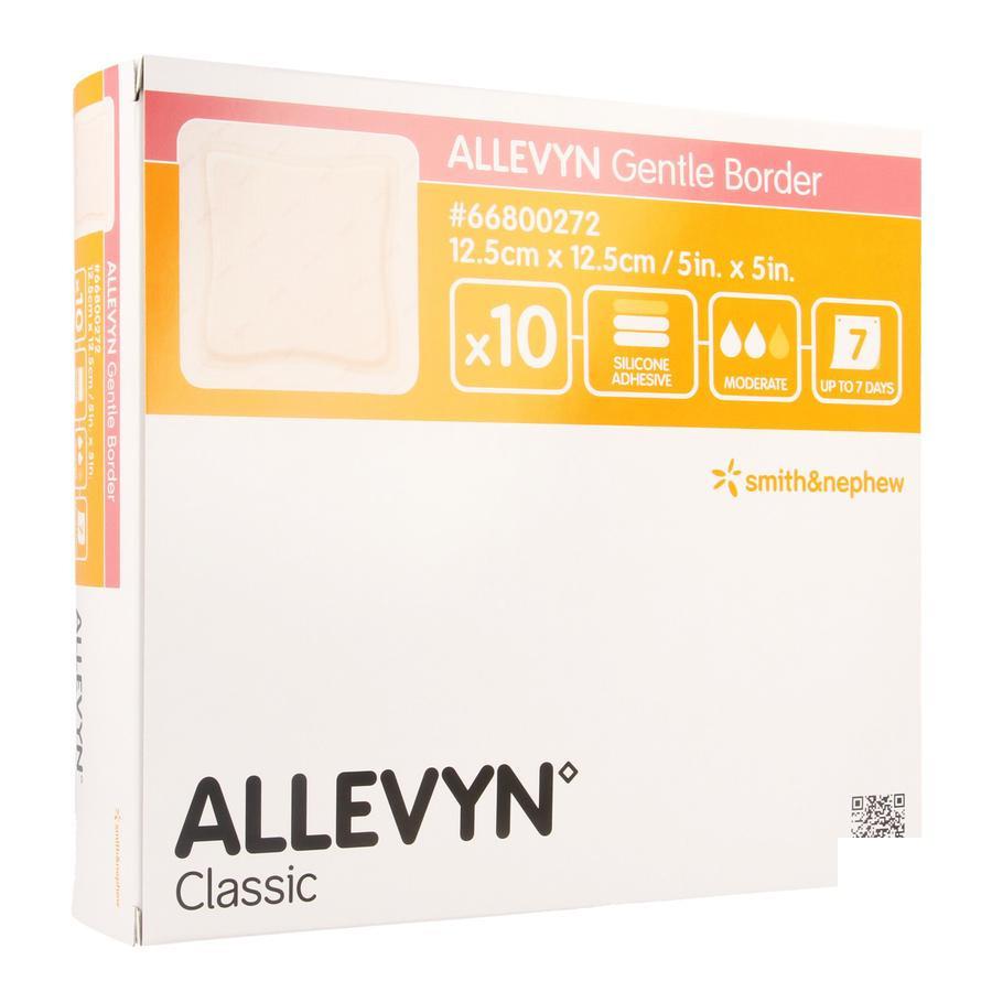 Image of Allevyn Gentle Border 12,5x12,5cm 10 Stuks