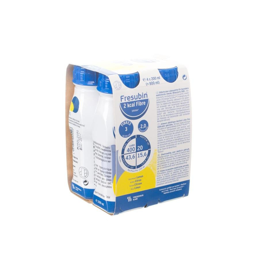 Image of Fresubin 2kcal Fibre Drink Citroen Easybottle 4x200ml