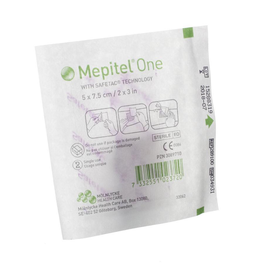 Image of Mepitel One Steriel 5cmx 7,5cm 1 Stuk