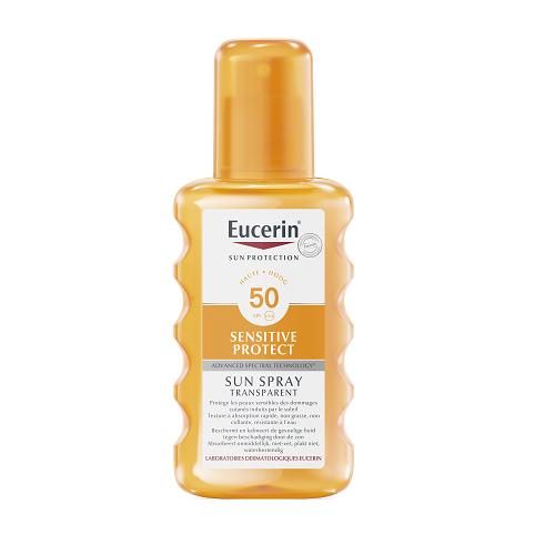 Image of Eucerin Zon Sensitive Protect Transparant Spray SPF50+ 200ml