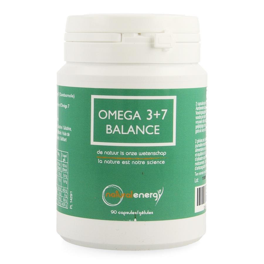 Image of Natural Energy Omega 3+7 Balance 90 Capsules