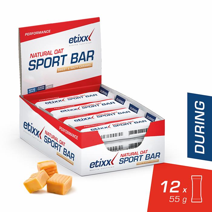 Image of Etixx Natural Oat Sport Bar Zoet & Hartig Karamel 12x55g