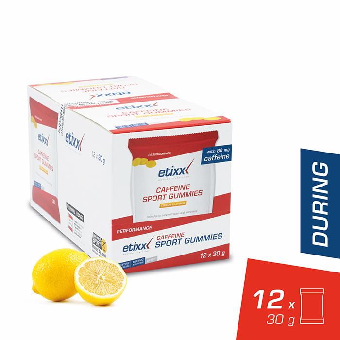 Image of Etixx Caffeine Sport Gummies Citrussmaak 30g 12 Zakjes