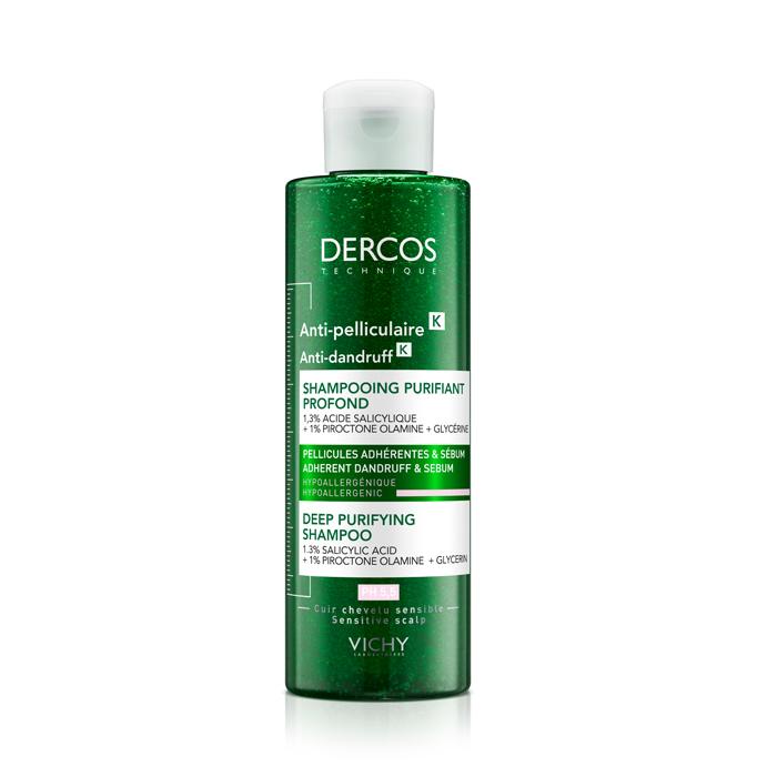 Image of Vichy Dercos Diep Zuiverende Anti-Roos Shampoo K 250ml