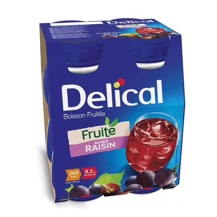 Image of Delical Fruitdrink Druiven 4x200ml