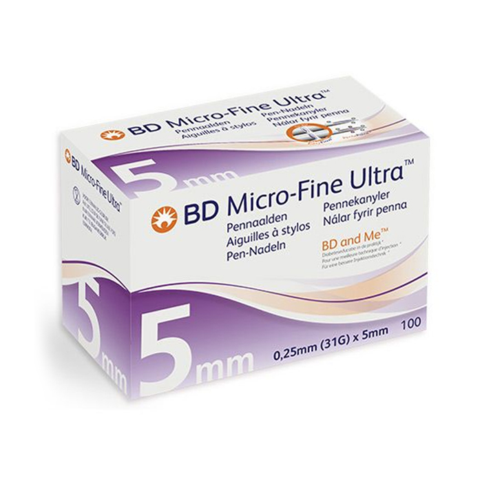 Image of BD Micro-Fine Ultra Pennaald 5mm 31g Easyflow 100 Stuks