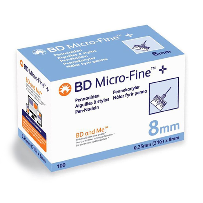Image of BD Micro-Fine+ Pennaald 31g 8mm 100 Stuks