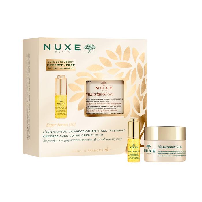 Image of Nuxe Geschenkkoffer Nuxuriance Gold Crème-Olie 50ml + GRATIS Super Serum [10] 5ml