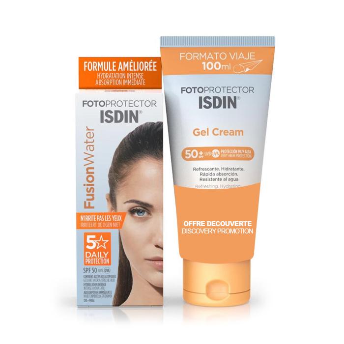 Image of Isdin Fotoprotector Fusion Water 5 Star SPF50 50ml + GRATIS Fotoprotector Gel Crème 100ml