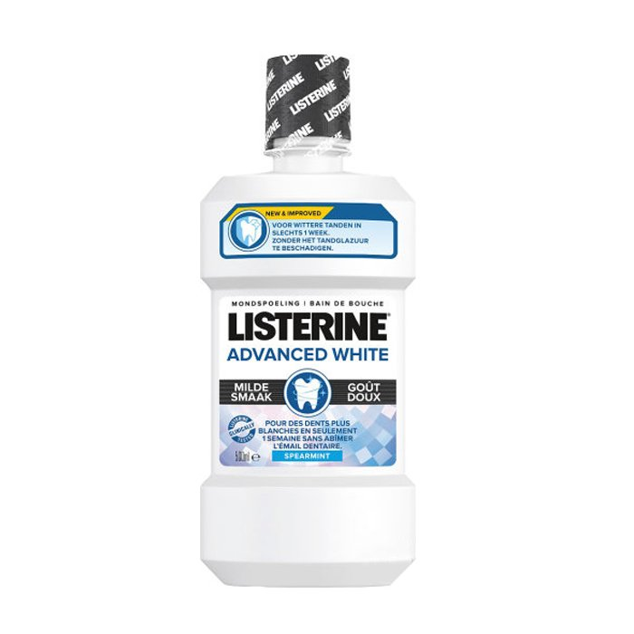 Image of Listerine Advanced White Milde Smaak Mondspoeling 500ml