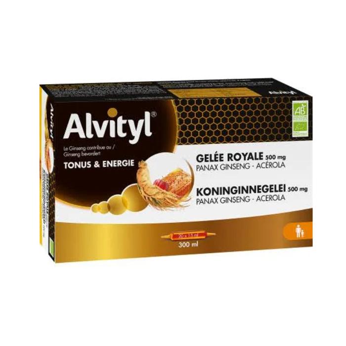 Image of Alvityl Koninginnegelei Ginseng/Acerola 20x15ml Ampullen