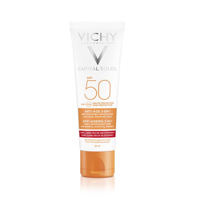 Image of Vichy Zon Idéal Soleil Anti-Aging 3-in-1 Antioxidante Verzorging SPF50 50ml