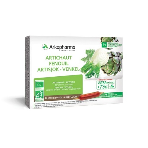 Image of Arkofluides BIO Artisjok-Venkel 20 Ampullen
