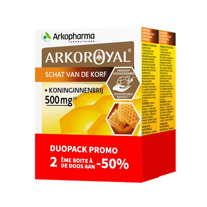 Image of Arkoroyal Koninginnenbrij 500mg Duopack 2x30 Capsules Promo 2de -50%