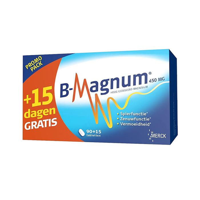 Image of B-Magnum 450mg Promopack 90+15 Tabletten GRATIS