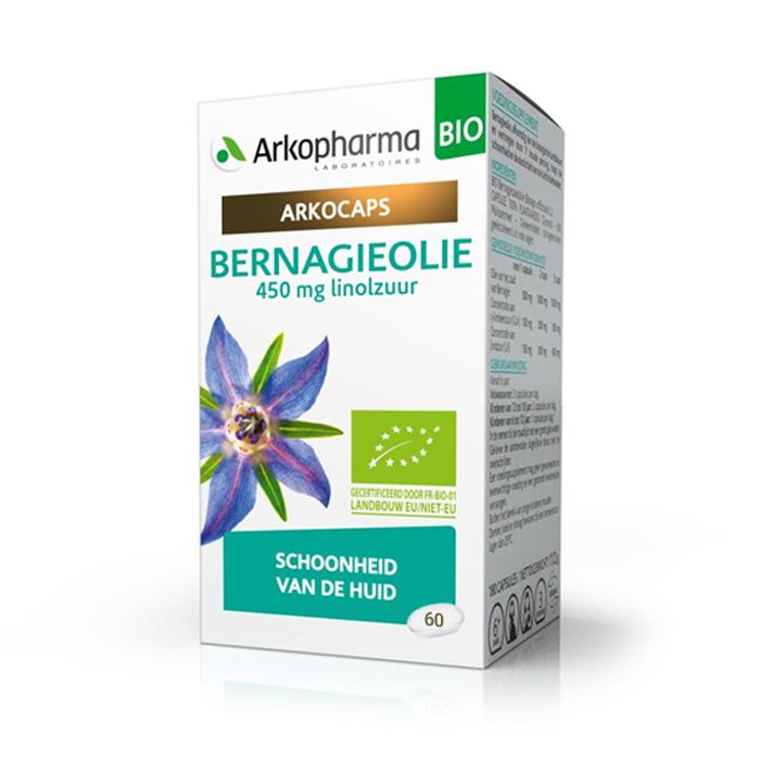 Image of Arkocaps Bernagieolie Bio Huid 60 Capsules