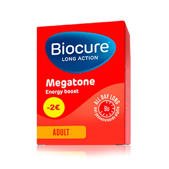 Image of Biocure Long Action Megatone Energy Boost Adult 30 Tabletten PROMO - €2