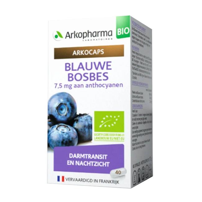 Image of Arkocaps Blauwe Bosbesvrucht Bio Darmtransit/ Nachtzicht 40 Capsules