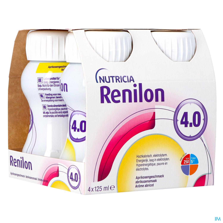 Image of Renilon 4.0 Abrikoos Fles 4x125ml 570978