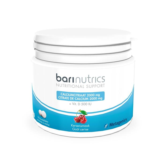 Image of Barinutrics Calciumcitraat Kers 90 Kauwtabletten
