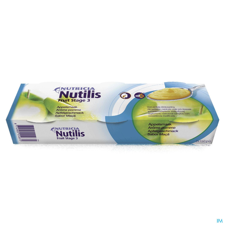 Image of Nutilis Fruit Stage 3 Appel 3x150g