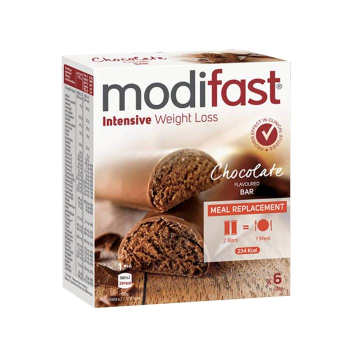 Image of Modifast Intensive Melkchocolade Lunchreep 6 Stuks