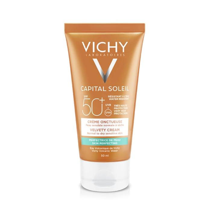 Image of Vichy Capital Soleil Fluweelachtige Crème SPF50+ Tube 50ml