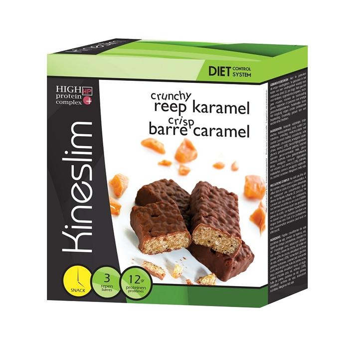 Image of Kineslim Crunchy Reep Karamel 3x40g