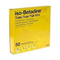 Iso-Betadine Tulles 10% Compresses Imprégnées 10x10cm 50 Pièces