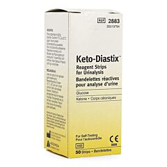 Keto Diastix Analyse Urine 50 Bandelettes Reactives