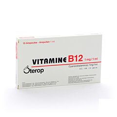 Vitamine B12 1mg/1ml 10 Ampoules