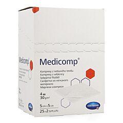 Hartmann Medicomp Compresses Stériles 4 Plis 5x5cm 25x2 Pièces