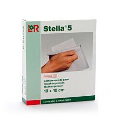 Stella 5 Compresses de Gaze Stériles 10x10cm 12 Pièces