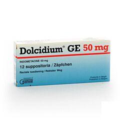 Dolcidium GE 50mg 12 Suppositoires