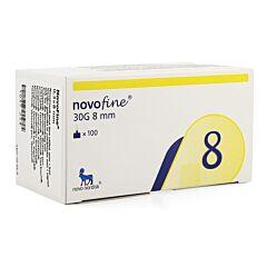 Novofine Wegwerpnaalden 8mm 30g 100 Stuks