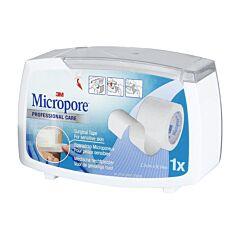 Micropore Dispenser Hechtpleister 1 Stuk 2,5cmx9,1m