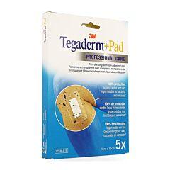 3M Tegaderm + Pad Pansement Adhésif Transparent Stérile 9cmx10cm 5 Pièces