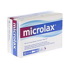 Microlax Constipation Occasionelle Gel Rectal 12x5ml