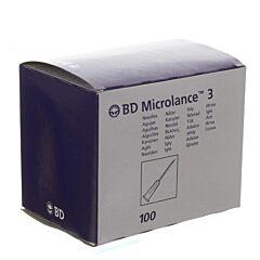 BD Microlance 3 Aiguille 18G 1/2 SB 1,2x40mm Rose 100 Pièces