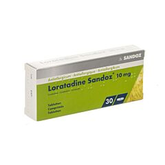 Loratadine Sandoz 10mg 30 Comprimés