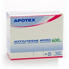 Acetylcysteine Apotex 600mg 30 Sachets