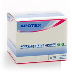 Acetylcysteine Apotex 600mg 60 Sachets