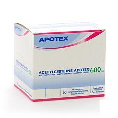 Acetylcysteine Apotex 600mg 60 Comprimés Effervescents